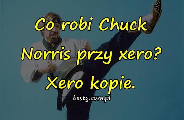 Co robi Chuck Norris przy xero? Xero kopie.