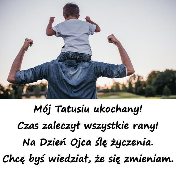 Mój Tatusiu ukochany! Czas zaleczył wszystkie rany! Na Dzień Ojca ślę życzenia. Chcę byś wiedział, że się zmieniam.