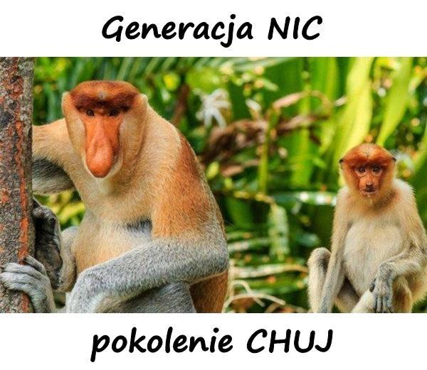 Generacja NIC i pokolenie CHUJ.