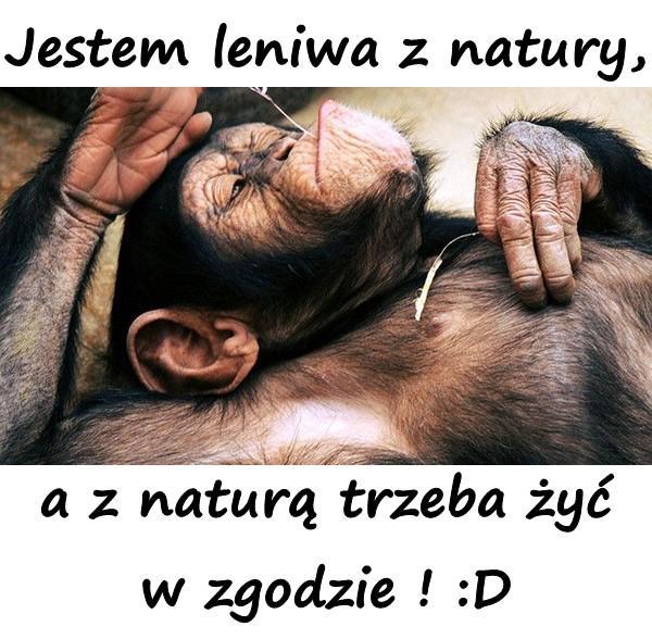 Jestem leniwa z natury, a z naturą trzeba żyć w zgodzie ! :D