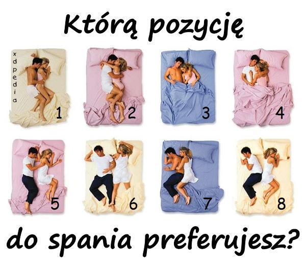 Którą pozycję do spania preferujesz?