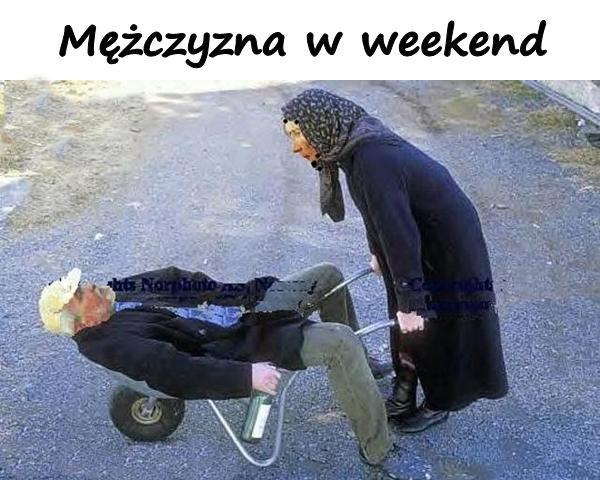 Mężczyzna w weekend