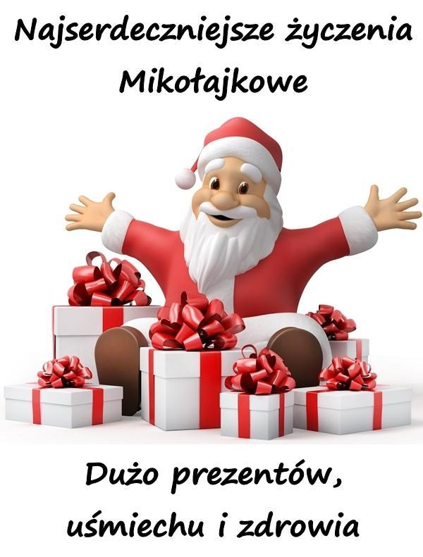 Najserdeczniejsze życzenia Mikołajkowe. Dużo prezentów, uśmiechu i zdrowia.