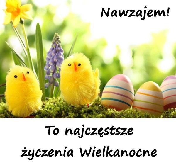 Nawzajem! to najczęstsze życzenia Wielkanocne