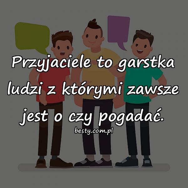 Przyjaciele to garstka ludzi z którymi zawsze jest o czy pogadać.