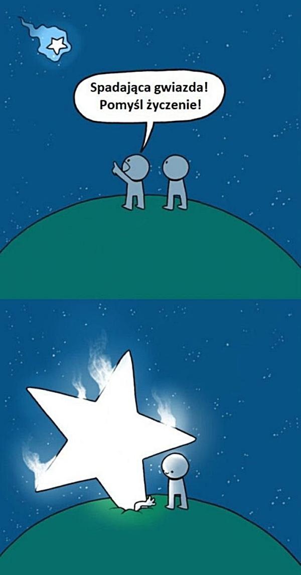 Spadająca gwiazda! Pomyśl życzenie!