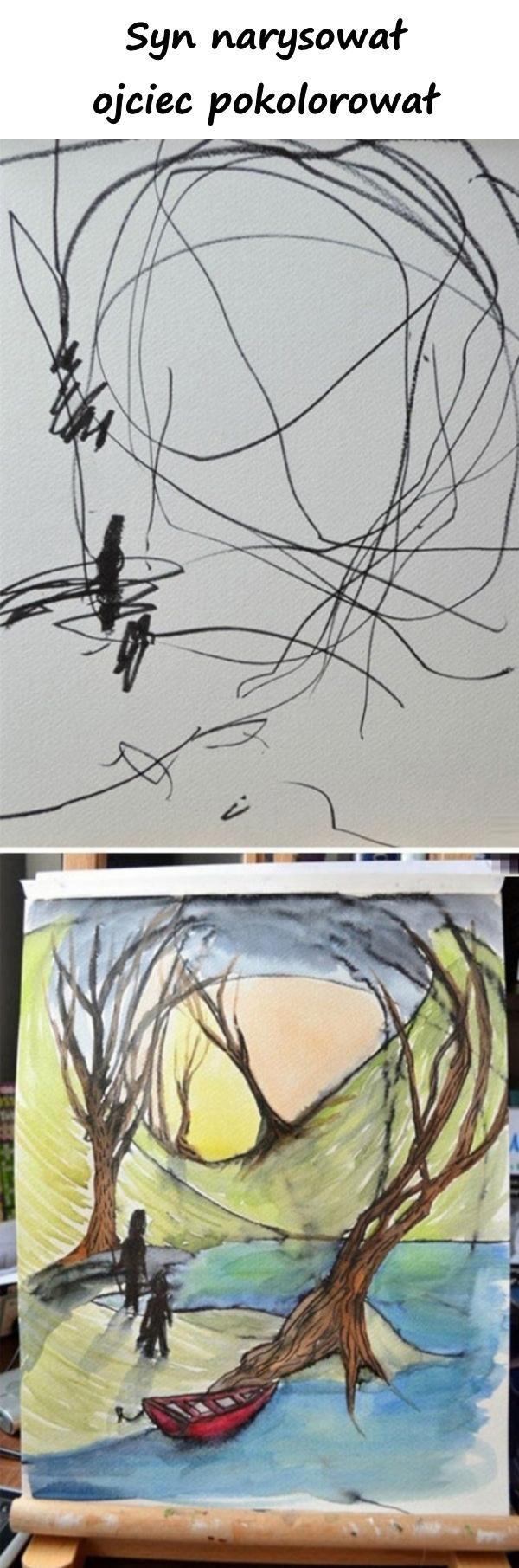 Syn narysował, ojciec pokolorował