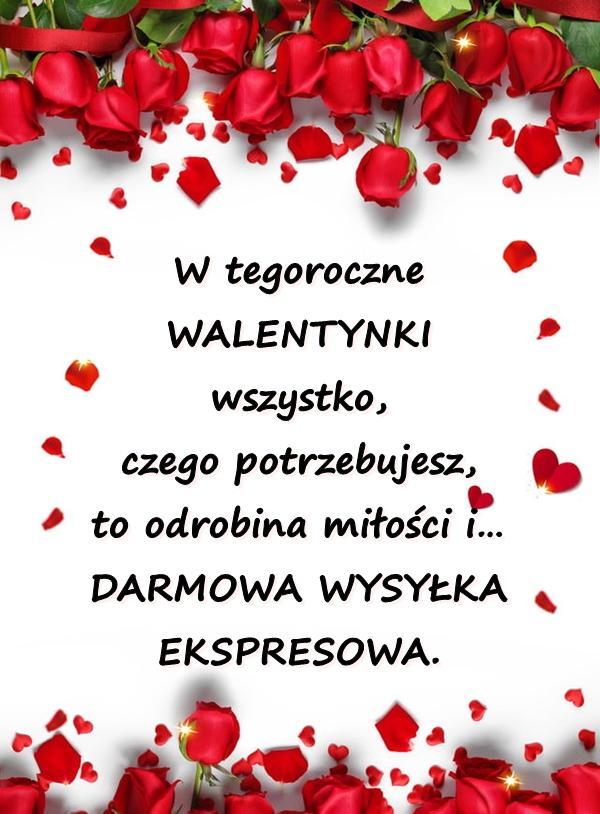W tegoroczne Walentynki wszystko, czego potrzebujesz, to odrobina miłości i DARMOWA WYSYŁKA EKSPRESOWA.