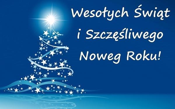 Wesołych Świąt i Szczęśliwego Noweg Roku!