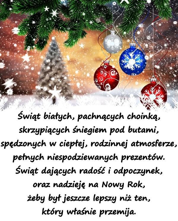 święta Kartka Bożonarodzeniowa życzenia Wigilijne Besty